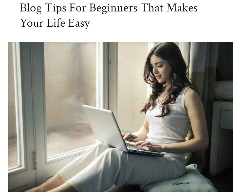 Examples of a Blog Post