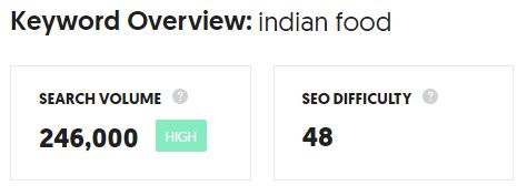 indian food topic for a blog -