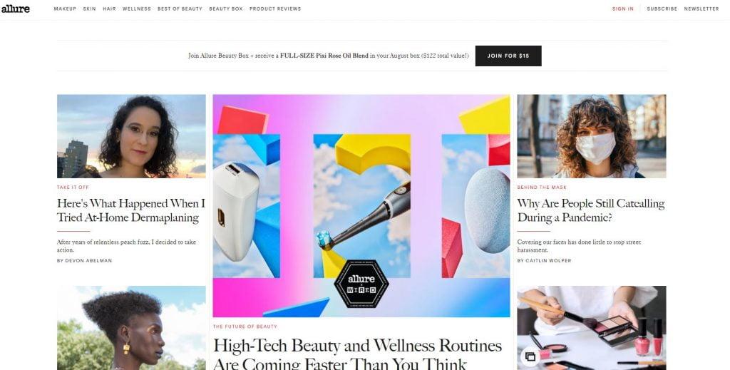 affiliate marketing for bloggers - allure