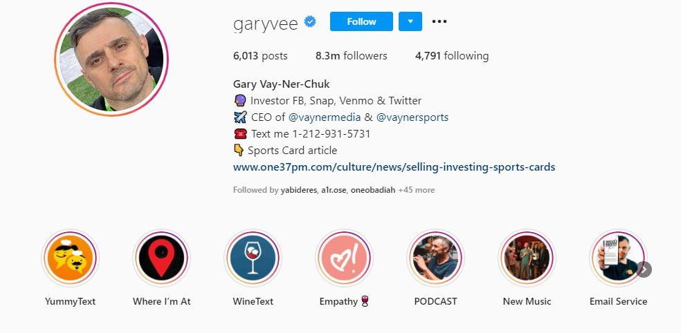garyvee instagram -