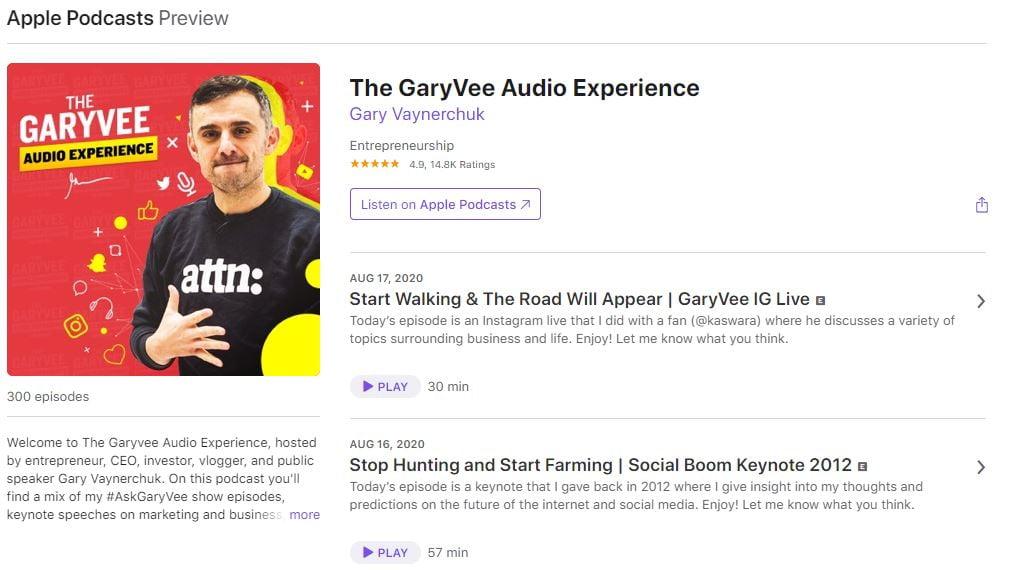 gary vee podcast